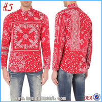 Latest Shirt Designs For Men Custom Patchwork Style Long Sleeves Cotton Shirt Indian Clothing Wholesale