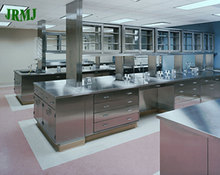 Use for school laboratory lab furniture steel workbench with drawer