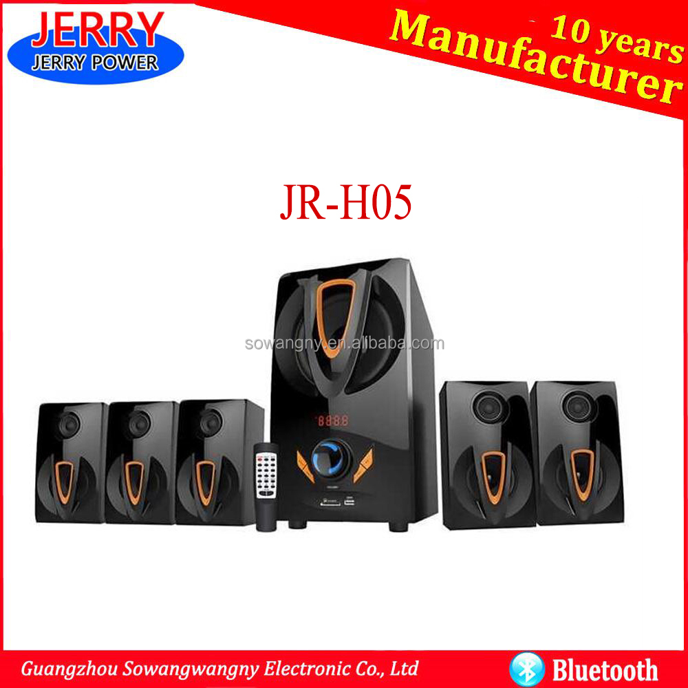Popular heavy bass sound system 5.1 tower home theater speaker
