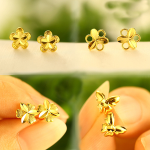 2018 xuping fashion costume druzy 24k gold plated jewelry stud earrings for women, bijouterie saudi gold bijoux jewels