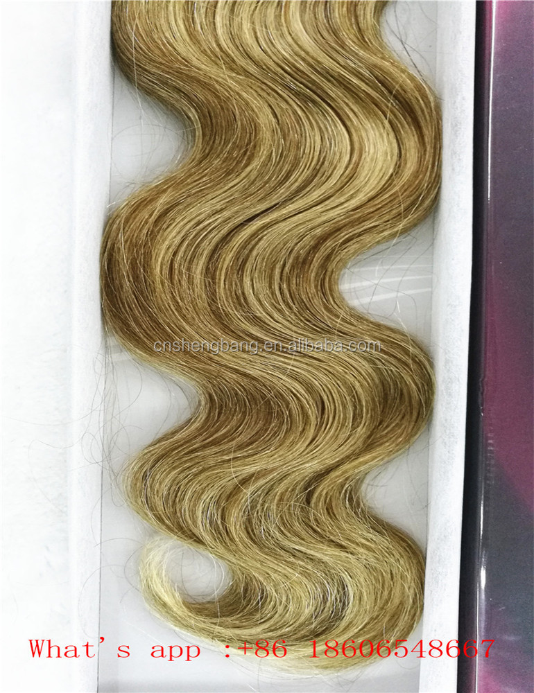 "Promotion! 100%human hair weft Body wave 18"" and 22"" brown 6/613# ,8a,aliexpress hair peruvian body wave"