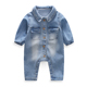 WCF905 Wholesale Baby Girls Boys Unique Demin Plain Jumpsuit Stylish Newborn Romper
