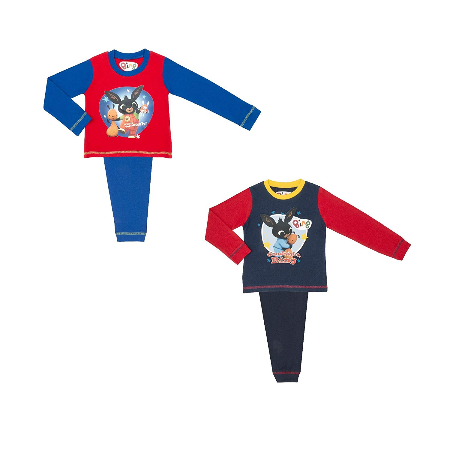Cartoon Character Products CBeebies 2 Pack Bing Boys Pyjamas - 18 Months to 5 Years