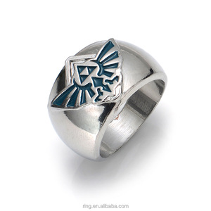 New Legend of Zelda Men's Ring Templar Ring Zelda Cospaly Anime Jewelry For Women Men Party Rings