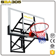 wall mounted adjustable basketball backboard with rim