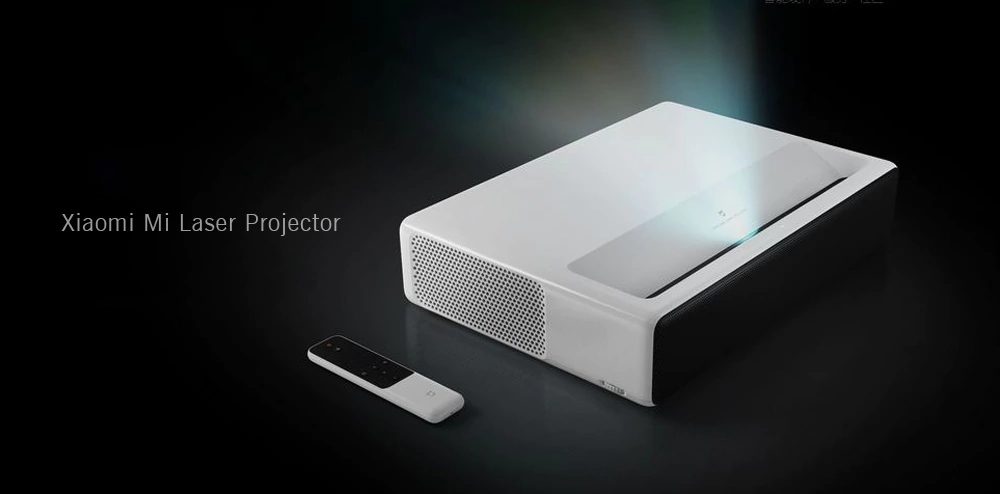 Xiaomi Ultra Short Throw Android Full HD 1080P 3D Laser DLP Projector with 1920*1080p Native Resolution 4000 Lumens IR