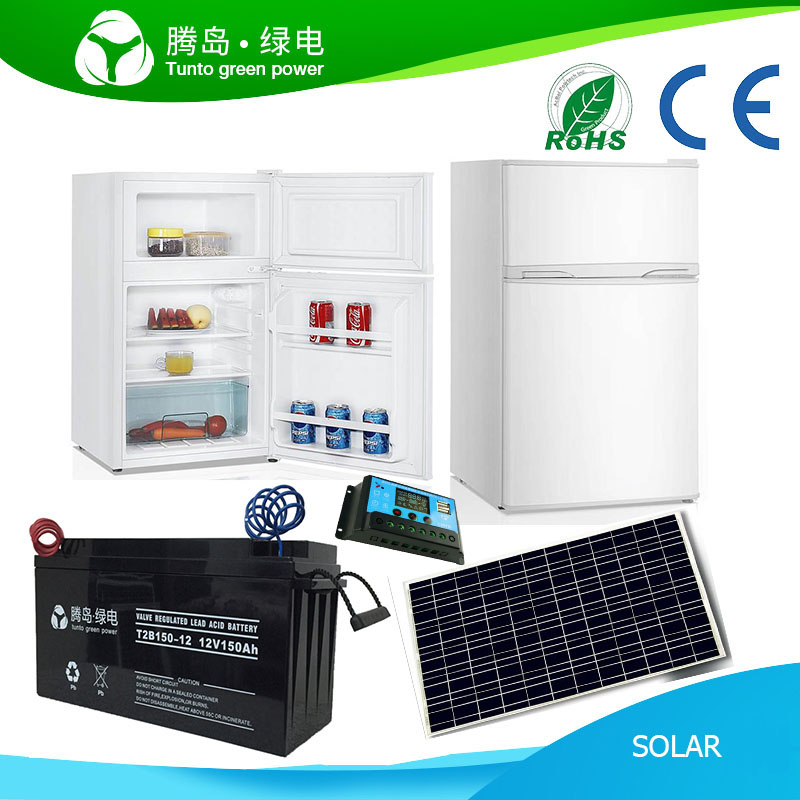 90L Middle Size 12V 80W DC Solar Power Off Grid Refrigerator T2-R-90T