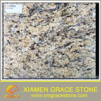 Polish Brazil Gold Granite Tiles Slab