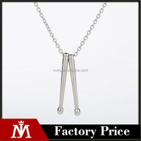 MJ Jewelry Main Product Drumstick Pendant Necklace 2017 New Design Biker Style Chain Neckalce