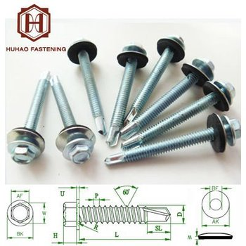 Din Standard Self Drilling Screws Zinc Galvanized Roof Screws ...