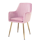 Hotel chairs living room chair electroplate gold leg high-density sponge with velvet