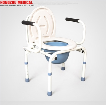 Hospital Folding Toilet Commode Potty Chair For Disabled Elderly Gravida Parts