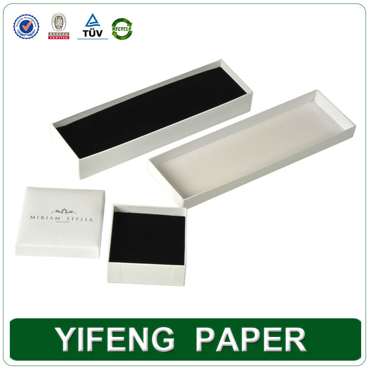 Custom wholesale cheap cardboard paper display recyclable jewelry packaging