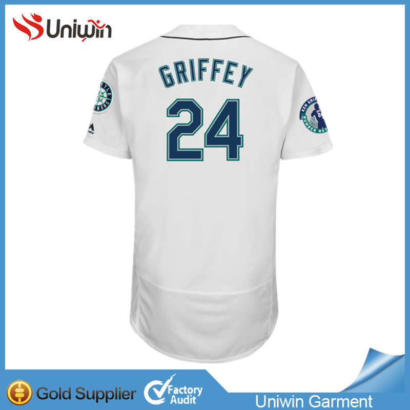 Top quality Griffey #24 baseball jersey free sample shirt baseball