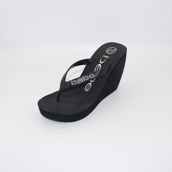7d1a4fefb High Heel Black Sexy Flip flops Soft Wedge Flip Flops Platform Summer Beach  Slippers