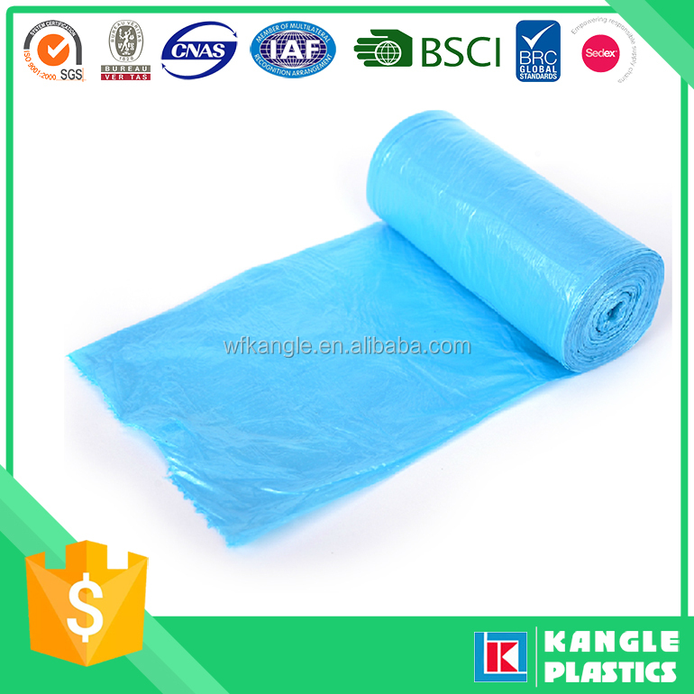 manufacturer price plastic garbage bag colorful on roll or loose pack