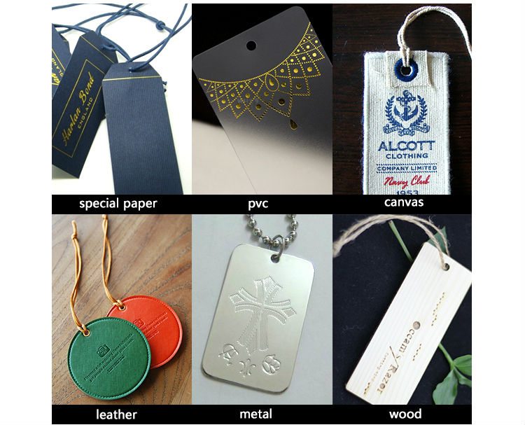 Guangzhou Customized the Paper Brown Kraft Jeans Hang Tags for Clothing