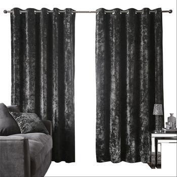 Black Velvet Wholesale Curtain For Bedroom Windows Buy