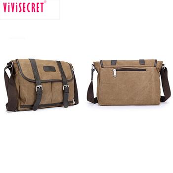 ebe99dce386b china manufacturer custom wide strap men vintage canvas leather sling  messenger bag