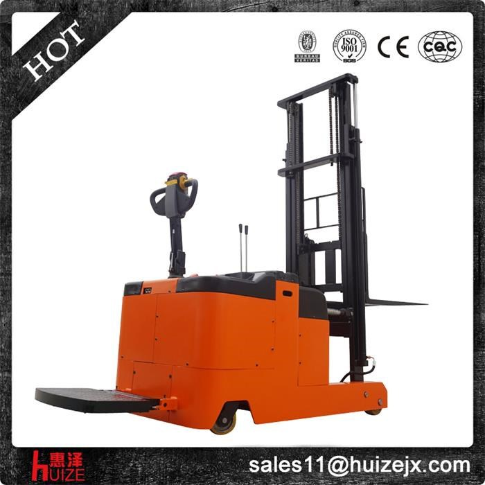 1 Tons High Lift Electric Hydraulic Forklift Counter Balance Stacker Trucks