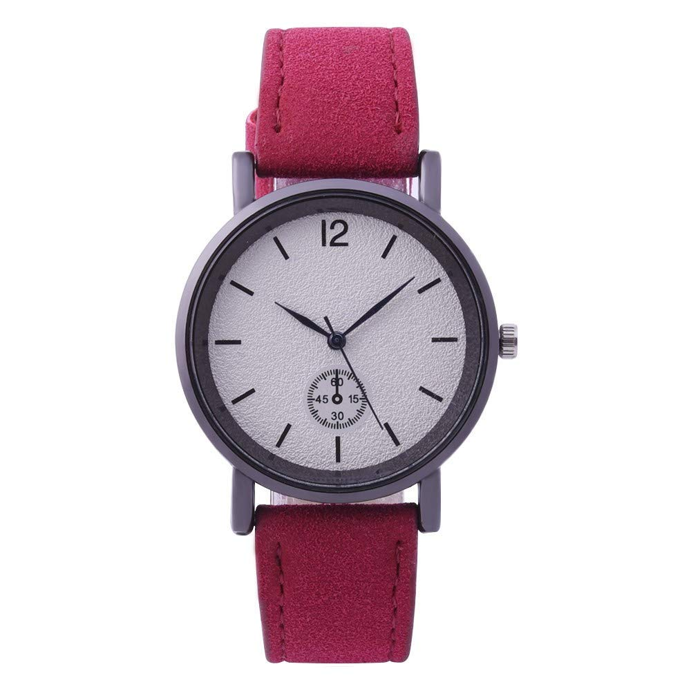 AKwell Women's Watches Fashion Leather Band Analog Quartz Round Wrist Watch