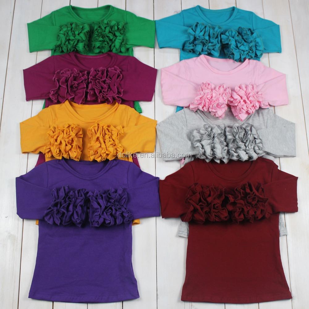 Many colors long sleeve t shirts baby girl long sleeve shirts girls icing tops фото