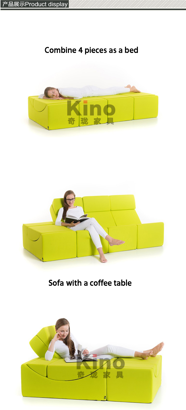 Cover Machine Washable Comfortable Sponge Sofa Chair and Side Coffee Table