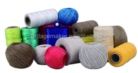 Colorful polyester/nylon/pp twisted/braid twine with competitive price