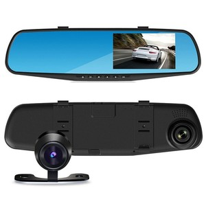 2018 Hot selling 1080P FULL HD 2 camera dual lens mirror dash cam car dvr rearview mirror two camera