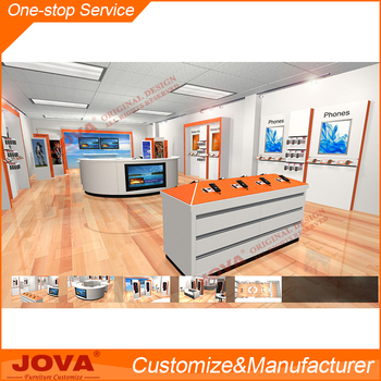 Cell Phone Shop Counter For Mobile Interior Design