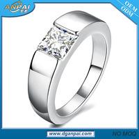 2016 simple design 1 carat solitaire men diamond platinum ring silver prices in pakistan
