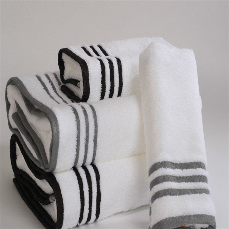 Factory provide medium size hygienic sublimate towel striped spa sauna hotel wash cloth hand cotton towel