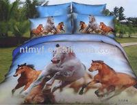 horse design 3D animal printing bedding