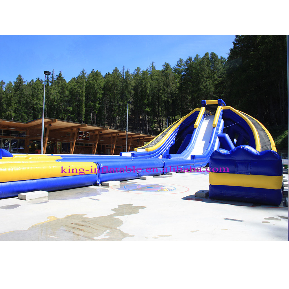 Latest Design Giant 3 Lanes Durable Inflatable Water Slide