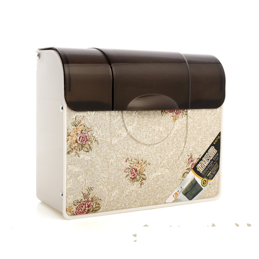 Toilet bathroom plastic tray/bathroom tissue box/wall-mounted grass-tray/storage from drilling installation-C