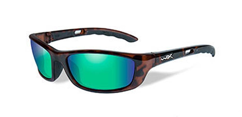 9fdd05b206 Get Quotations · Wiley X Men s P-17 Polarized Emerald Green Gloss Demi  Sunglasses - P-17Ka