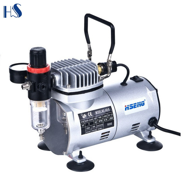 low noise single cylinder airbrush compressor for hobby