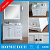 "Homedee 48"" stately designed white solid oak bathroom standing vanity cabinet transitional style"