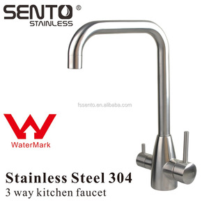 Stainless steel watermark certificated three 3 way RO kitchen water purifier faucet