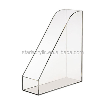 Vertical Clear Acrylic File RackPlexiglass Desk OrganizerFile Beauteous Clear Plastic Magazine Holders