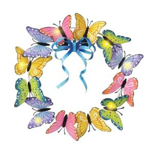 circular metal Butterfly Decoration Door  Lighted Metal Art