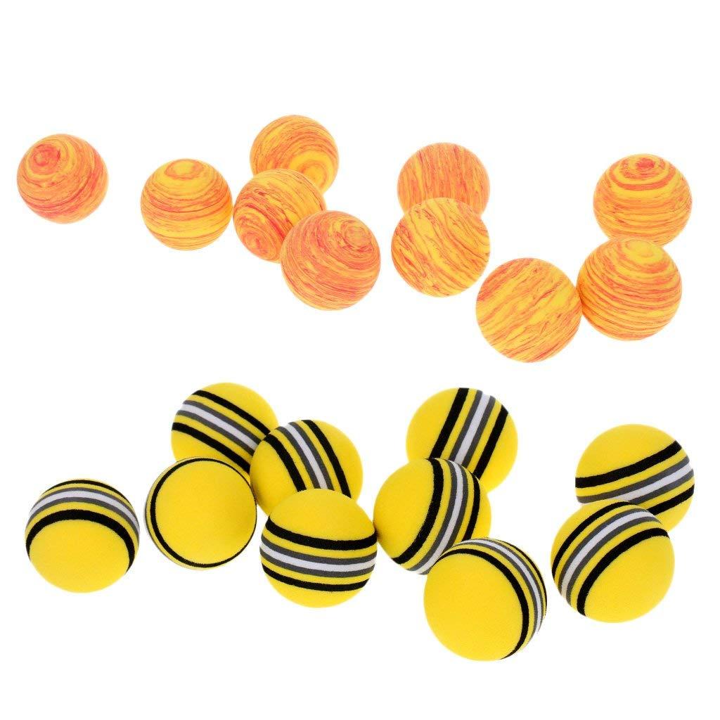 Dovewill Set of 20 Sponge Golf Ball Golf Training Soft Balls Practice Balls, Yellow & Orange