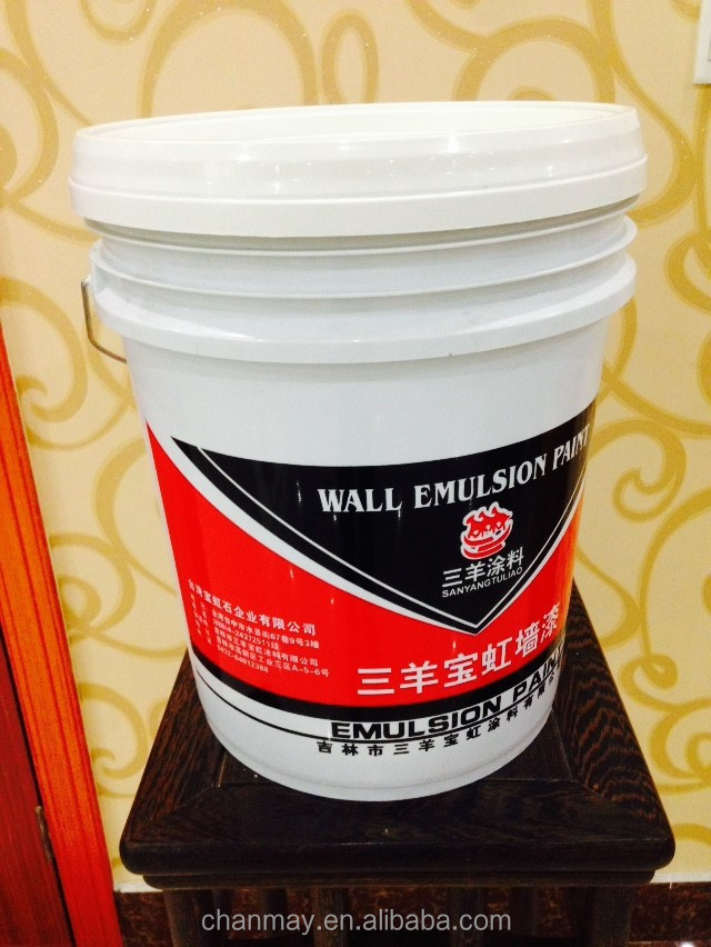 20L printed PP Plastic pail for coating, latex paint, or other chemical products