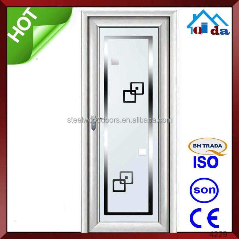 Modern Aluminium Bathroom Doors And Window Aluminum Frame Glass Door - Bathroom doors waterproof