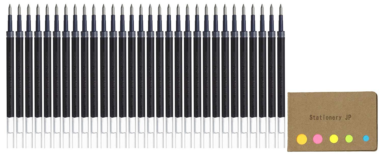 Uni-ball UMR-87 Refills for Gel Ink Ballpoint Pen, 0.7mm, Black Ink, 30-pack, Sticky Notes Value Set