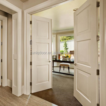 36'' X 96'' Uniqdoor Craftsman 3-panel Solid Wood Core Off White ...