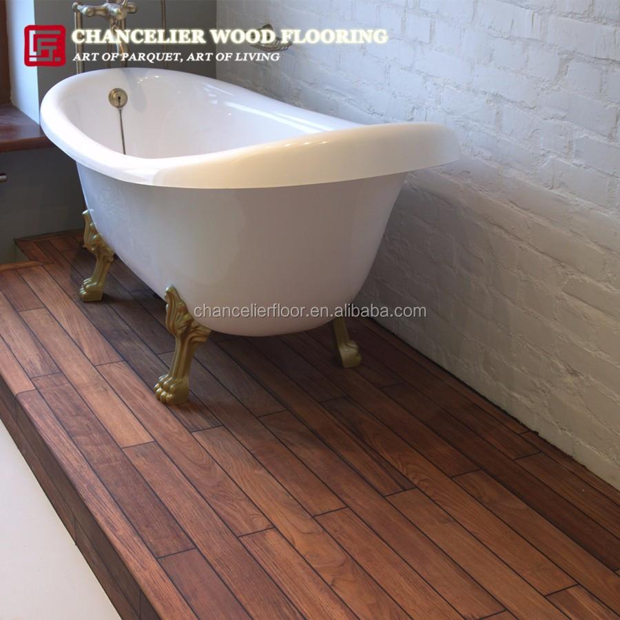 Waterproof burmese teak shower bathroom wood flooring buy teak bathroom flooring teak shower for Teak wood flooring for bathrooms