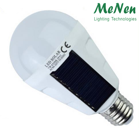 Solar rechargeable solar led emergency light <strong>bulb</strong> 7W