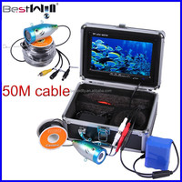 HD 1000TVL 7'' Digital LCD Screen 50M Underwater Fishing Camera Ice Fishing Camera Fish Finder Camera CR110-7L with strong cable