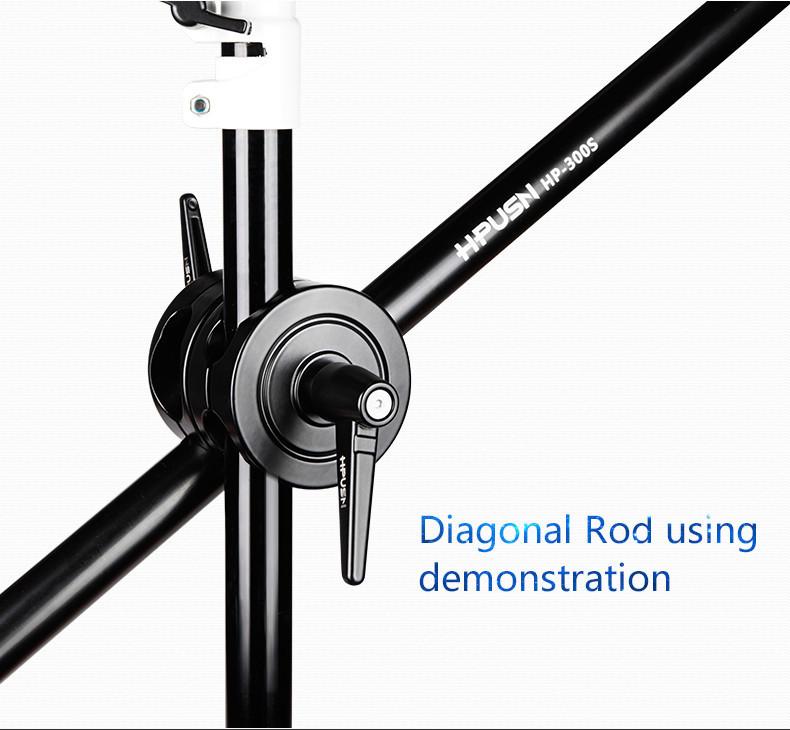 Light Stand Pole: HPUSN Boom Arm Metal Grip Caliber 20mm-35mm Light Stand